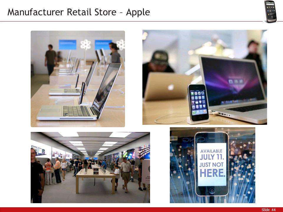 Slide 44 Manufacturer Retail Store – Apple