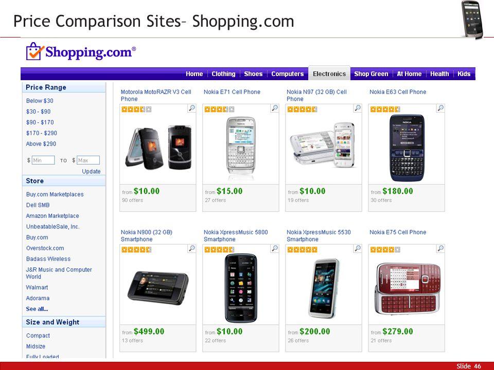 Slide 46 Price Comparison Sites– Shopping.com