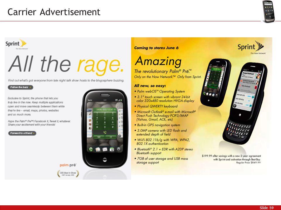 Slide 59 Carrier Advertisement