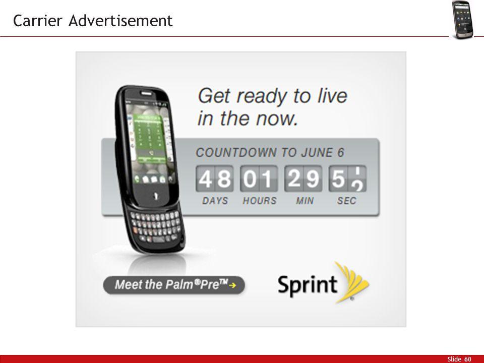 Slide 60 Carrier Advertisement