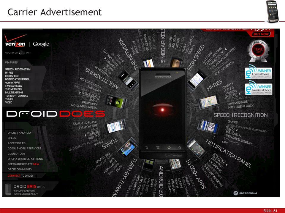 Slide 61 Carrier Advertisement