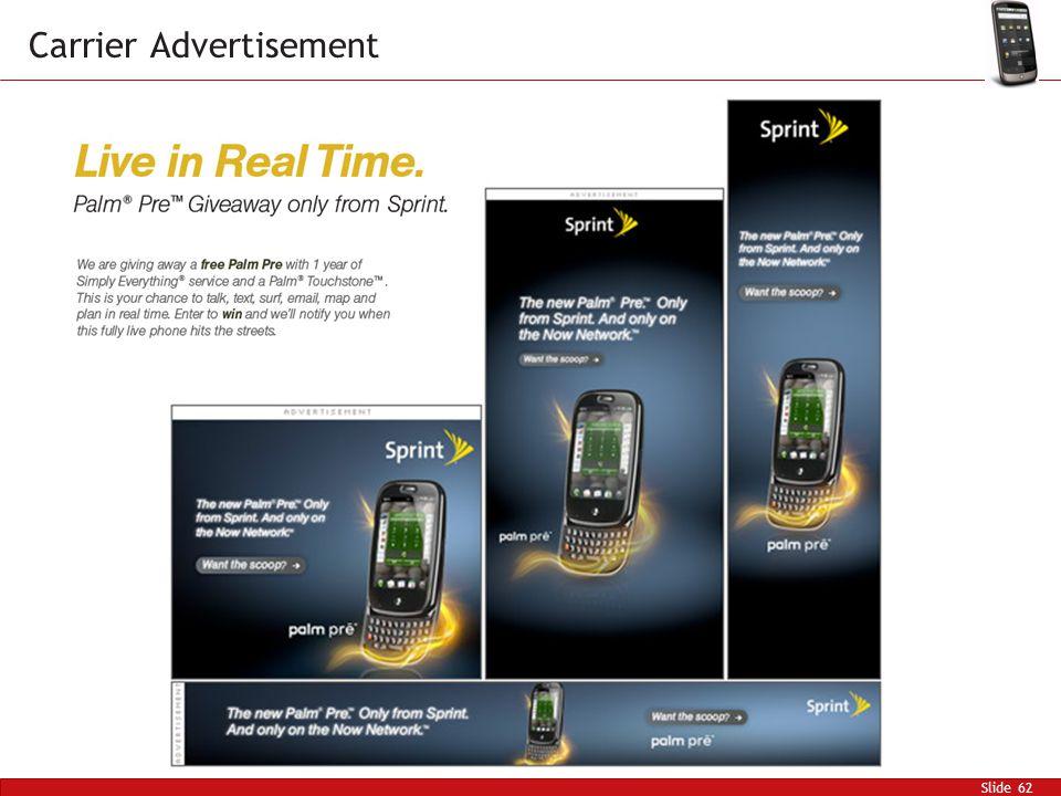 Slide 62 Carrier Advertisement