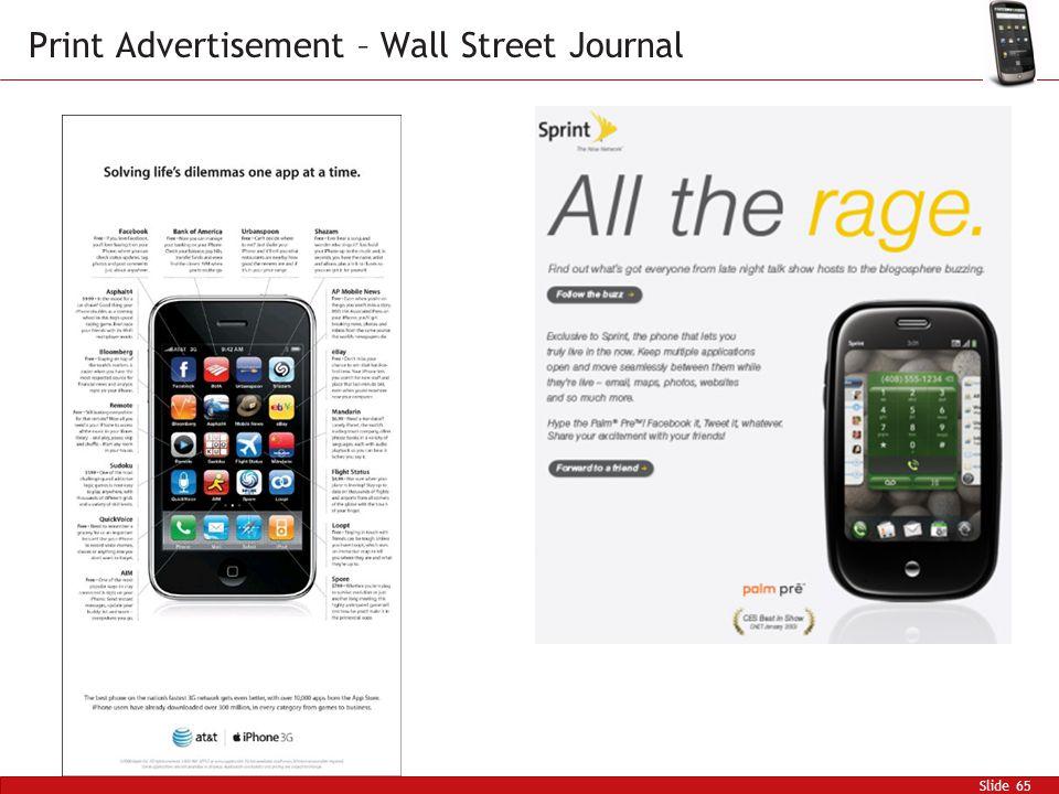 Slide 65 Print Advertisement – Wall Street Journal