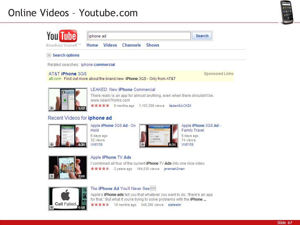 Slide 67 Online Videos – Youtube.com