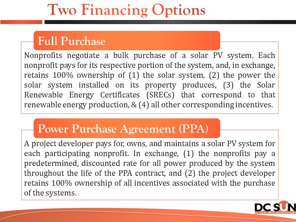 Nonprofits negotiate a bulk purchase of a solar PV system.