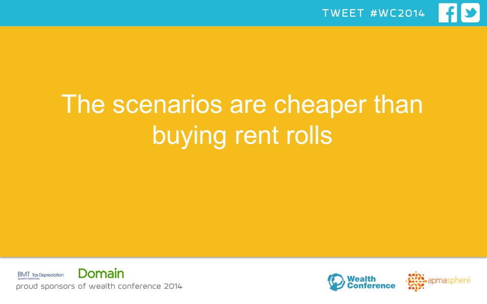 The scenarios are cheaper than buying rent rolls