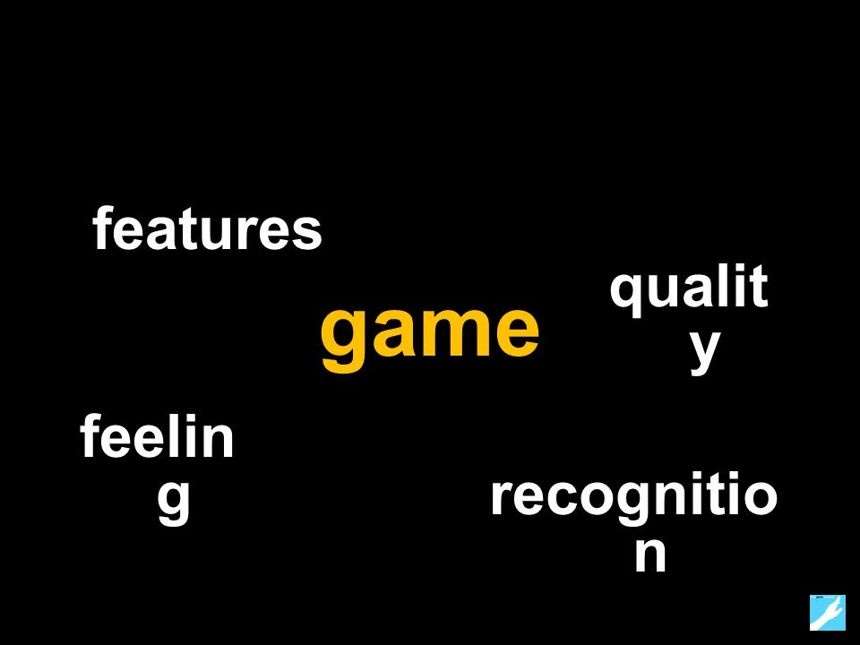 game feelin g qualit y recognitio n features