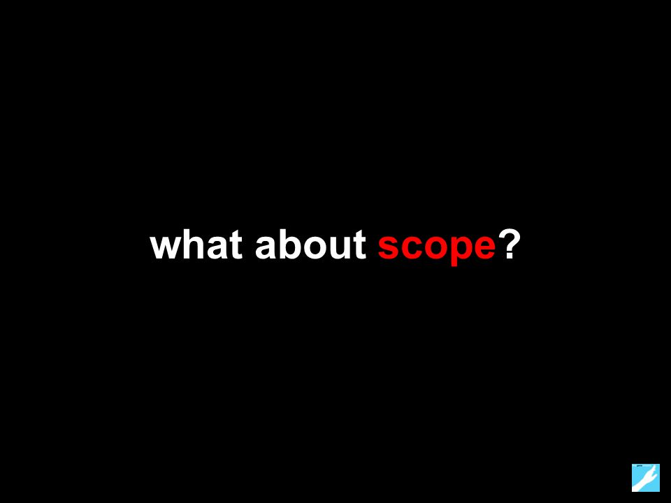 what about scope?