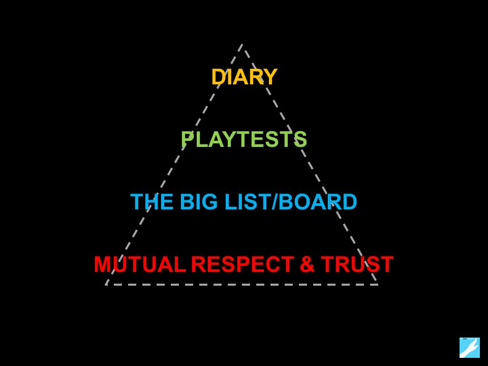 DIARY PLAYTESTS THE BIG LIST/BOARD MUTUAL RESPECT & TRUST
