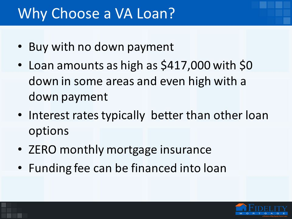 Why Choose a VA Loan.