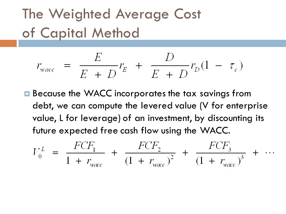 Valuing a Project with WACC  Ralph Inc.