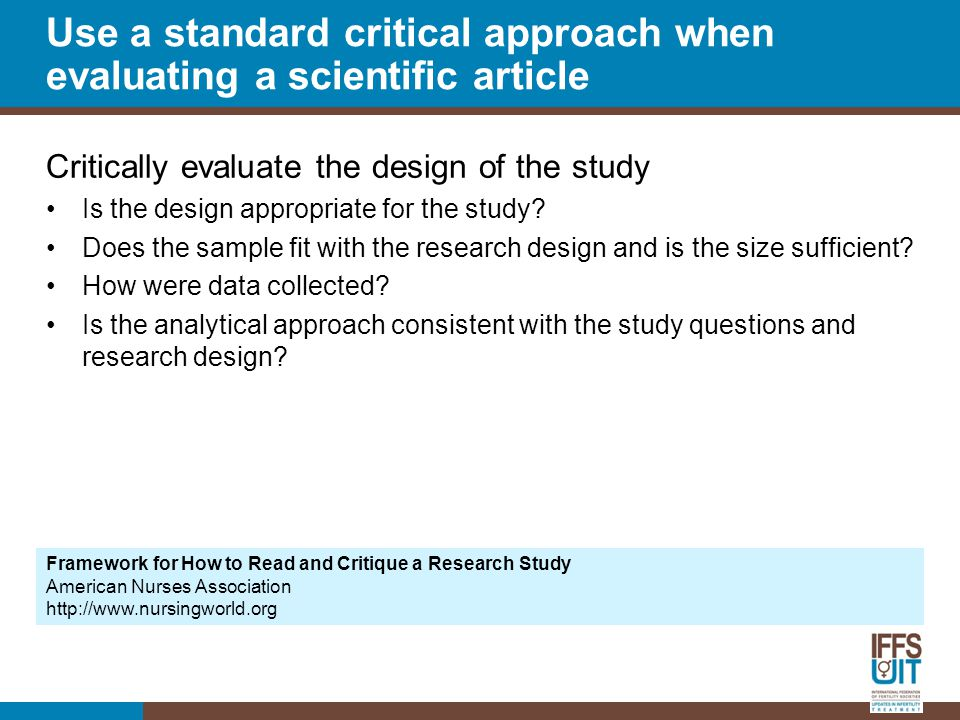 Critically evaluate the design of the study Is the design appropriate for the study.