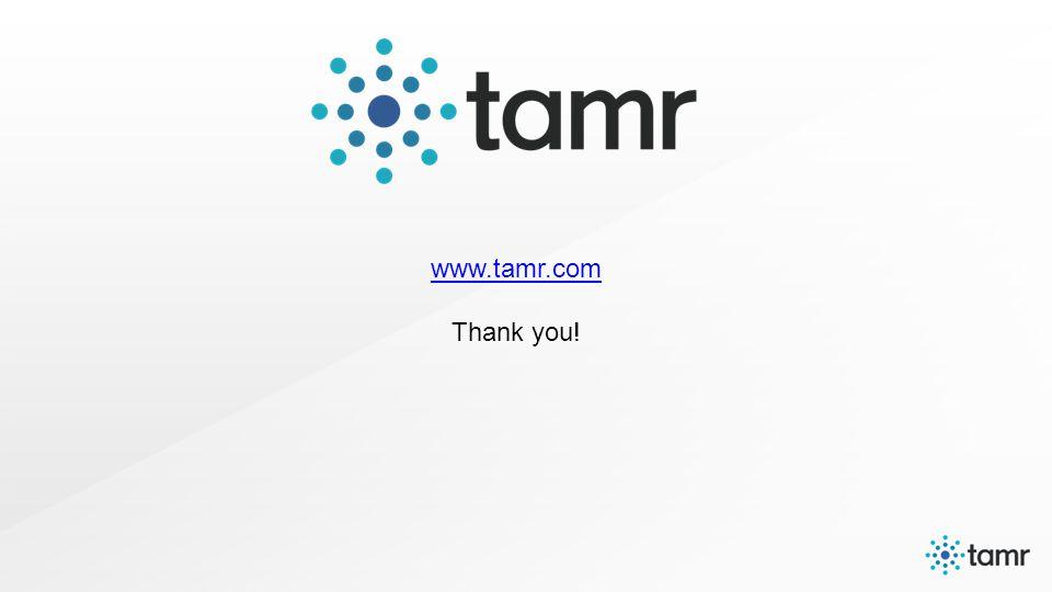 www.tamr.com www.tamr.com Thank you!