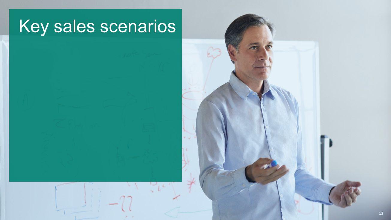 13 Key sales scenarios