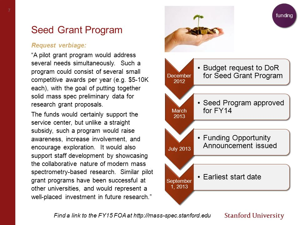 8 ARDS Seed funding proposal Seed grant goals: Supporting the application of existing capabilities to emerging research areas Developing new workflows with existing instrumentation base to advance research Helping PIs generate preliminary data to use in proposals for larger research grants Project aims: 1.Set up metabolite profiling method 2.Verify technical reproducibility via replicates & accuracy via orthogonal measurements 3.Apply method to 200 patient samples need, funding Estimated costs: >>$23K total 1.Method setup – › time: $2,500 › materials: $3,500 2.Verification – › time: $4,000 › materials: $2,000 3.Analysis – › time: TBD › materials: $11,000