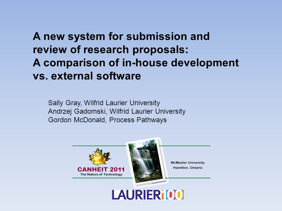 A new system for submission and review of research proposals: A comparison of in-house development vs.