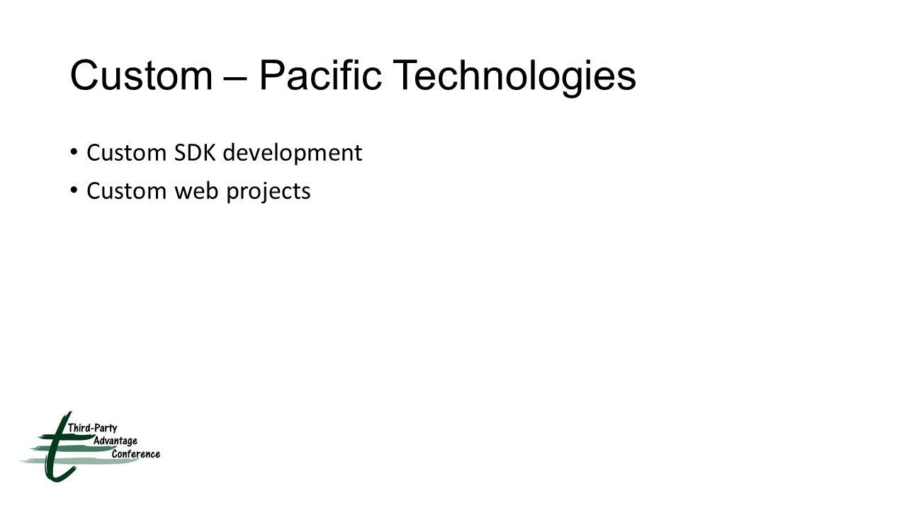 Custom – Pacific Technologies Custom SDK development Custom web projects