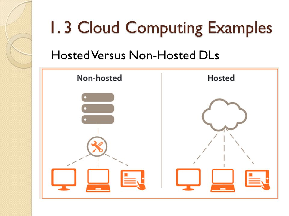 1. 3 Cloud Computing Examples Hosted Versus Non-Hosted DLs