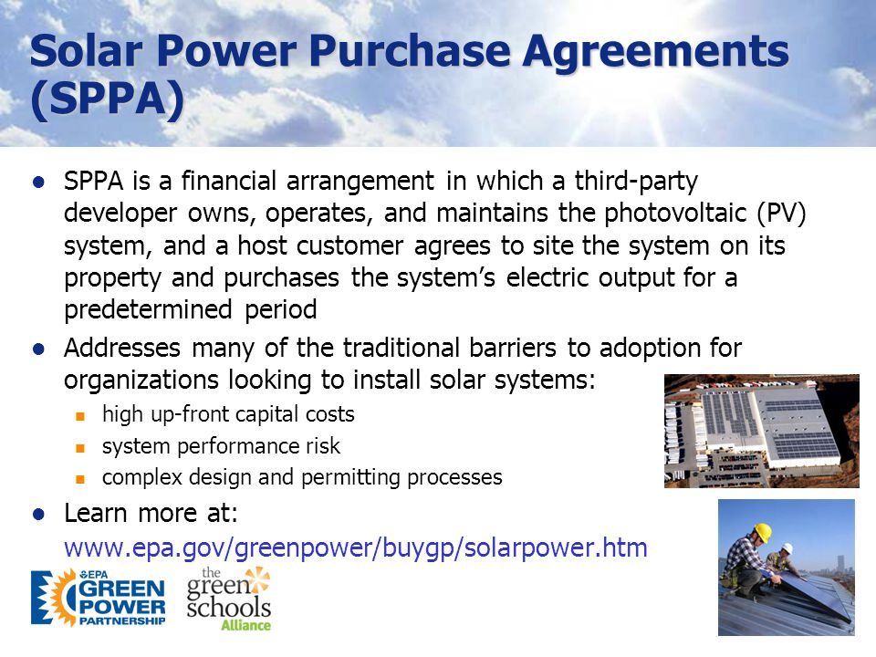 7 SPPA Process & Participants Adapted from Rahus Institute's The Customer's Guide to Solar Power Purchase Agreements (2008)