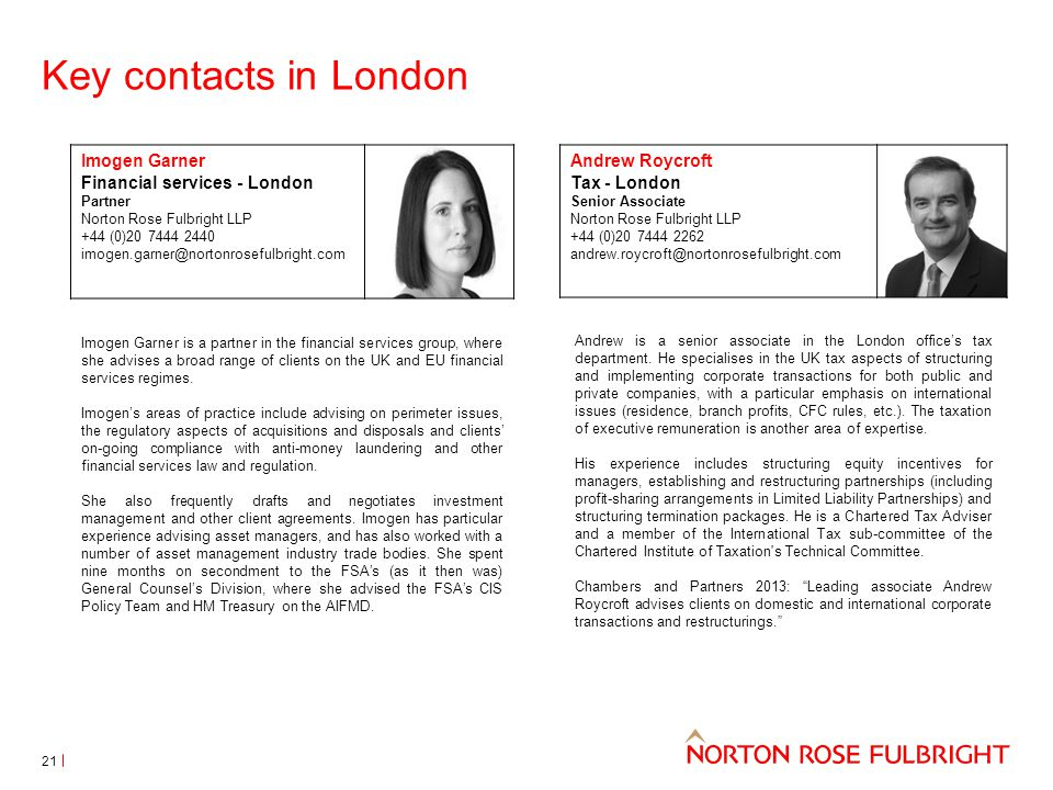 Key contacts in London Imogen Garner is a partner in the financial services group, where she advises a broad range of clients on the UK and EU financial services regimes.