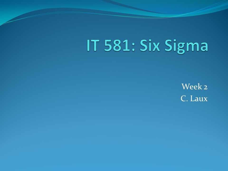 What is 6 Sigma.12 A vehicle for strategic change...