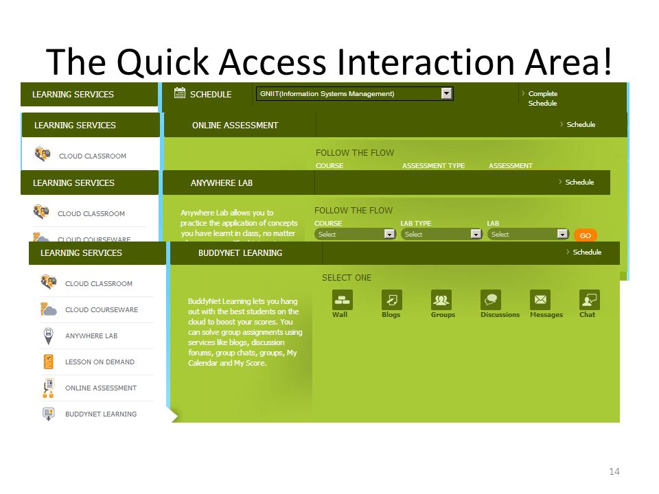 The Quick Access Interaction Area! 14