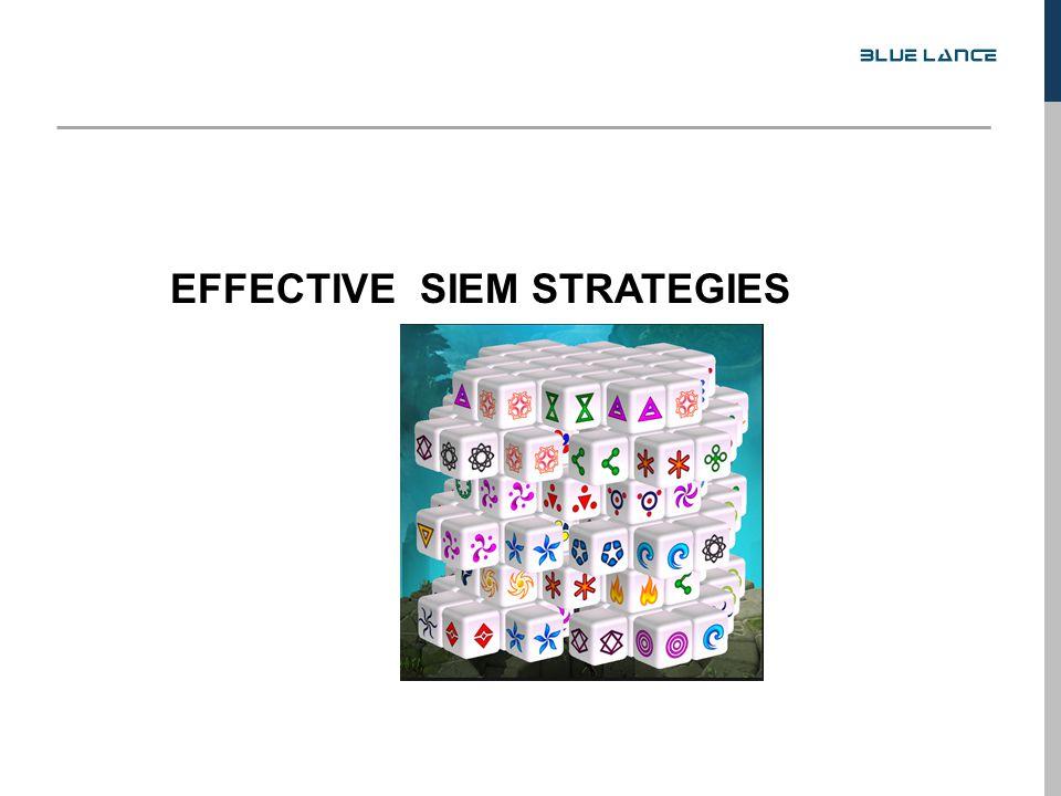 EFFECTIVE SIEM STRATEGIES
