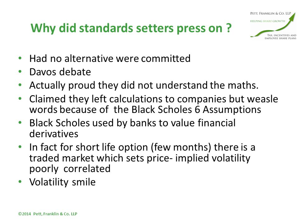 Why did standards setters press on .