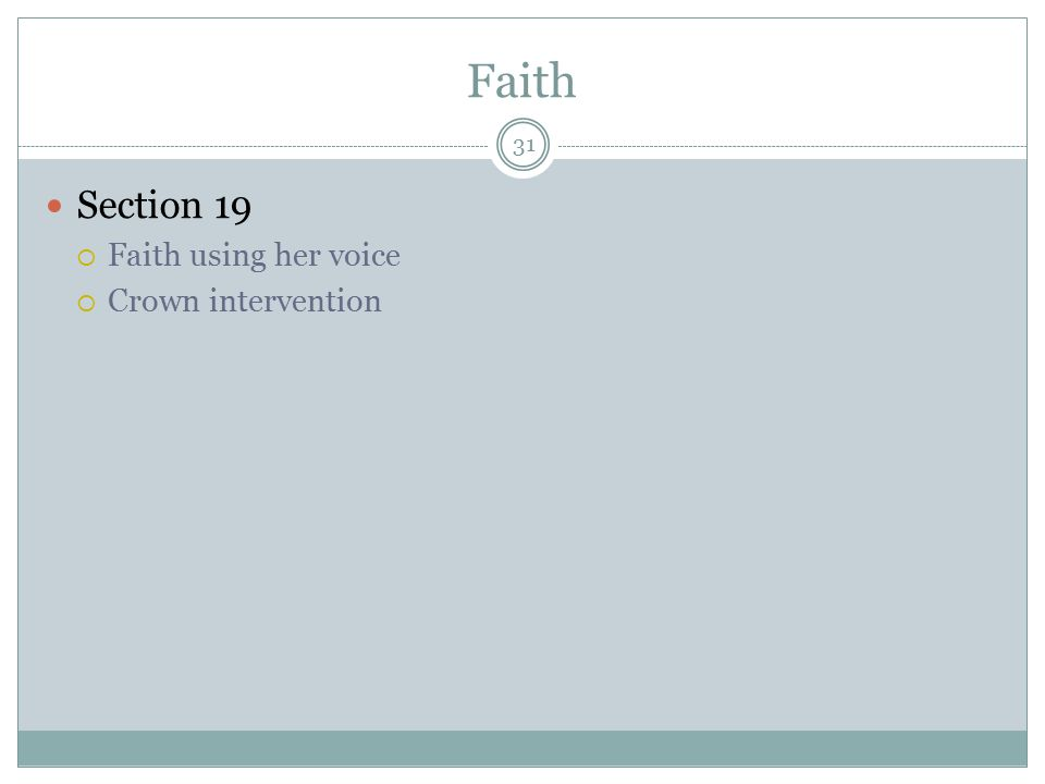 Faith Section 19  Faith using her voice  Crown intervention 31