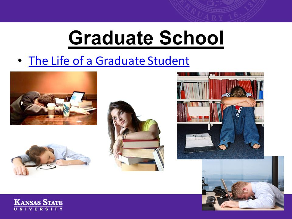 Graduate School The Life of a Graduate Student