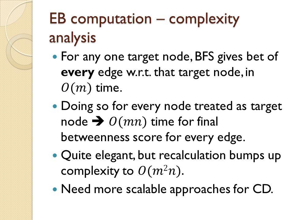 EB computation – complexity analysis