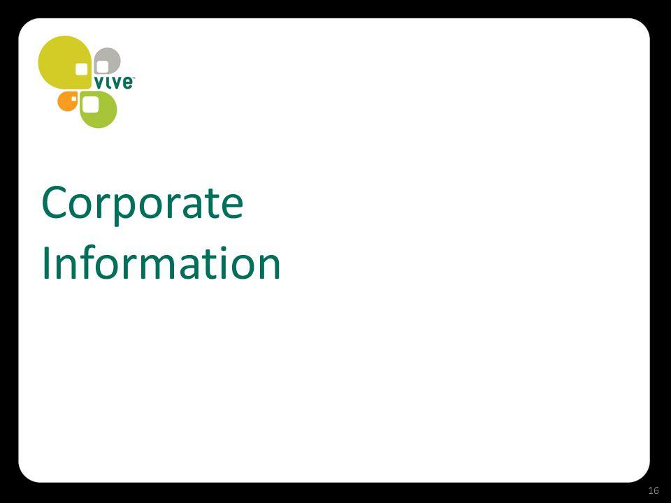 Corporate Information 16