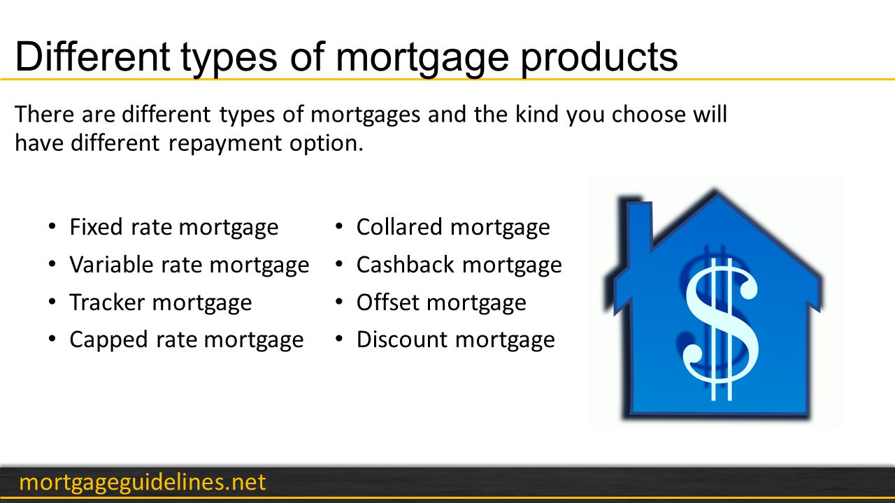 mortgageguidelines.net Choosing the right mortgage Fixed rate vs.