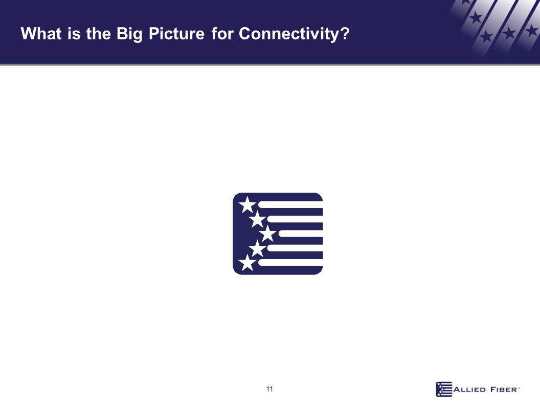 11 What is the Big Picture for Connectivity