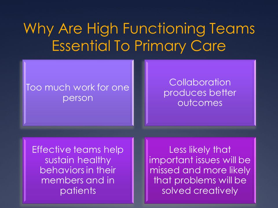 Why Are High Functioning Teams Essential To Primary Care