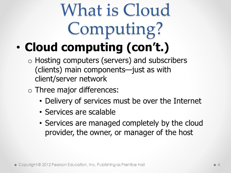The Future of Cloud Computing Statistics from an IDC report: o Cloud computing growing at a rate five times greater than any traditional IT product o Cloud applications were the main service in 2009.