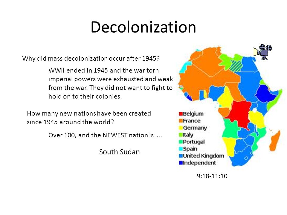 Decolonization Why did mass decolonization occur after 1945.