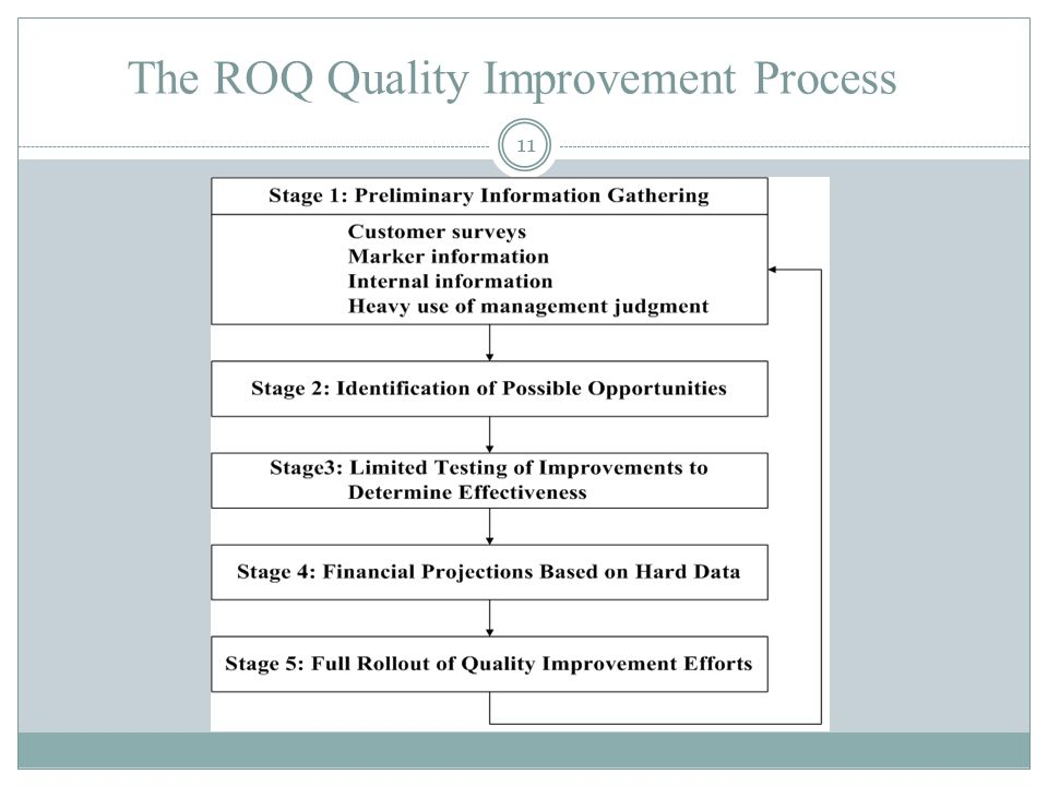 The ROQ Quality Improvement Process 11
