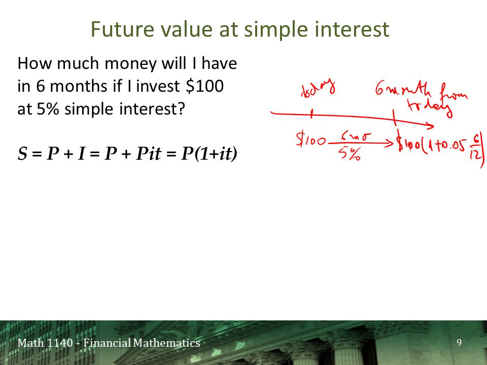 Math 1140 - Financial Mathematics A)Crystal clear B)I'm fine C)Not so clear D)I have no idea what that is US Rule 20