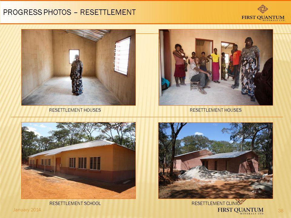 January 2014 RESETTLEMENT CLINIC PROGRESS PHOTOS – RESETTLEMENT RESETTLEMENT SCHOOL RESETTLEMENT HOUSES 38