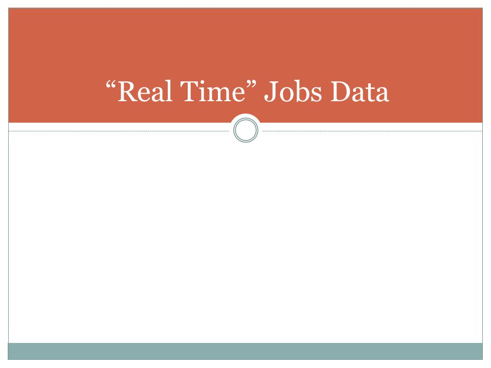 Real Time Jobs Data