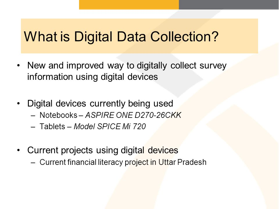 What is Digital Data Collection.