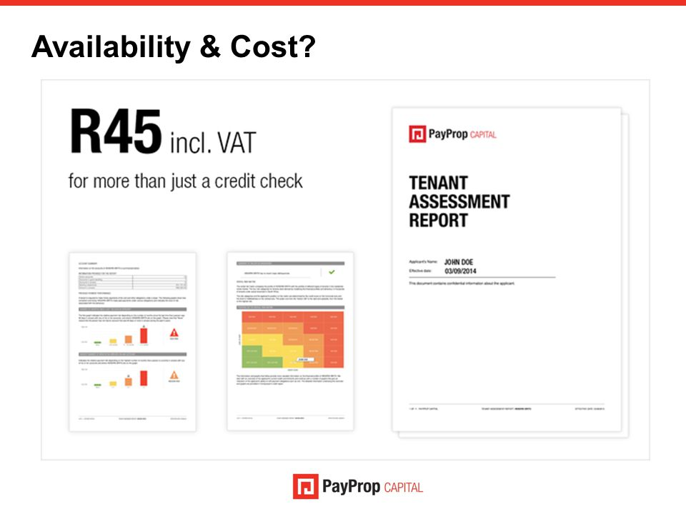 Availability & Cost?