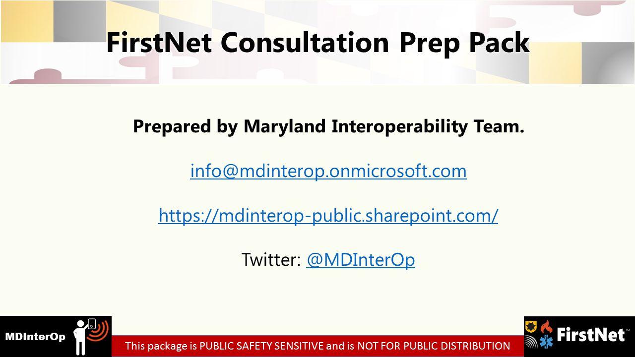 Prepared by Maryland Interoperability Team.