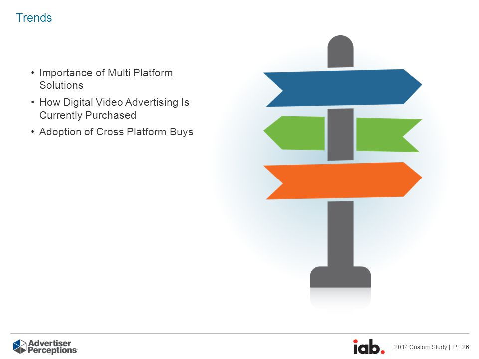 2014 Custom Study | P. 26 Importance of Multi Platform Solutions How Digital Video Advertising Is Currently Purchased Adoption of Cross Platform Buys