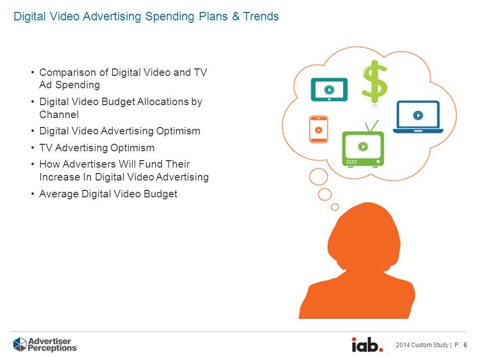2014 Custom Study | P. 6 Digital Video Advertising Spending Plans & Trends Comparison of Digital Video and TV Ad Spending Digital Video Budget Allocat