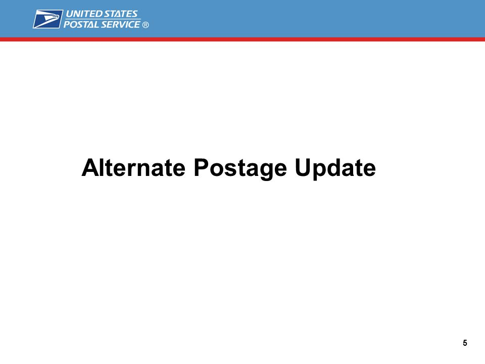 Alternate Postage Update 5