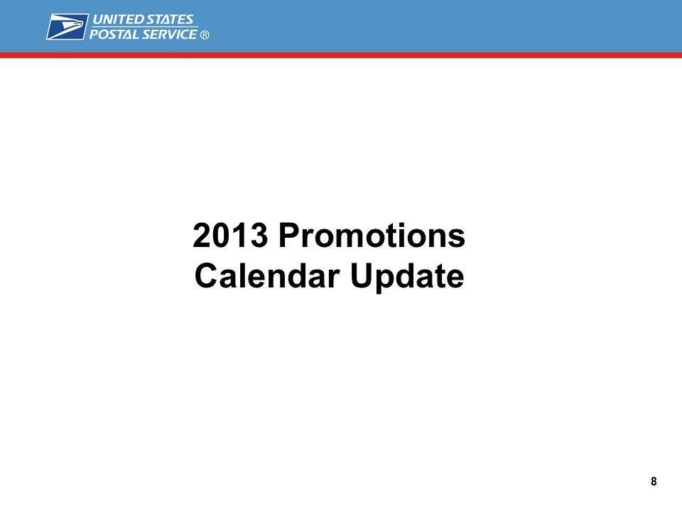 2013 Promotions Calendar Update 8