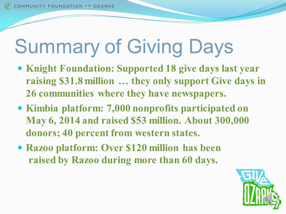Examples of Giving Days