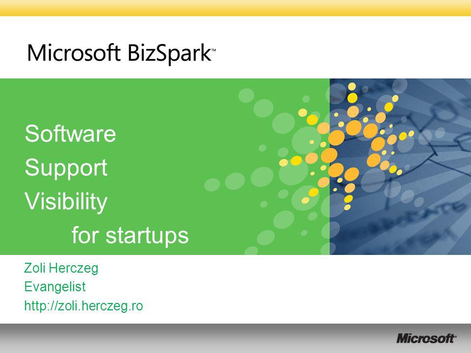 Software Support Visibility for startups Zoli Herczeg Evangelist http://zoli.herczeg.ro